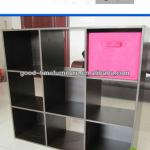 modern black melamine wooden bookshelf design
