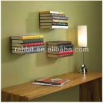Invisible stainless steel movable bookshelf portable bookshelf