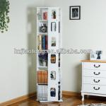 5-TIER Wooden Revolving Bookshelf