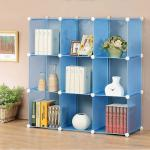 Blue color DIY 9 cube storage bookcase (FH-AL0033)