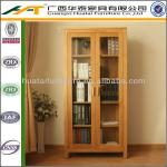 Solid wood bookcase with the door shelf oak wood bookcase furniture