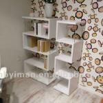New modern high gloss wooden book shelf YM-26006
