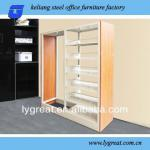 office furniture!modern wood and metaldisplay cabinet bookcase