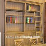 modern wood ladder bookshelf