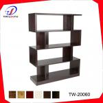 2014 high quality four layer espresso wooden display shelf bookcase