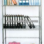 Adjustable Heavy Duty Iron / Metal Book Shelf in Chrome, DIY Style & NSF Approval