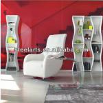 Steel-arts white high gloss wooden bookcase showcase S0018B S0018S