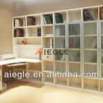 Living room furniture white wooden bookcase