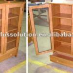 Stock lot BOOKCASE WITH 2 GLASS DOOR AND 1 DRAWER