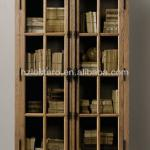 french antique style carved wooden bookcase