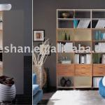 Modern wooden bookcase with open selves BC-013