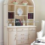 White colour Rose European classical wooden home office bookcase
