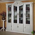 White European four classic White wood bookcase