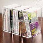 Water Clear Acrylic Book Rack Counter Top Acrylic Book Holder Acrylic Book Display Stand