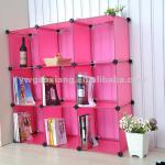 DIY movable library plastic bookshelf