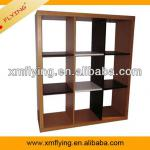 2013 popular design wood bookcase with melamine veneer lower price wooden furniture all kinds of wall units