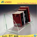 2013 hot plexiglass book shelf/customized plexiglass book shelf/plexiglass book shelf manufacturer