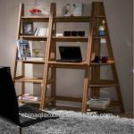 modern high living room ladder shelf bookcase set