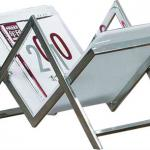 Modern Magazine shelf GDA6917 Magazine rack brochure holder