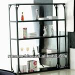 Single black wooden bookcases