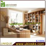 2.4 * 0.4m Comfortable Feelings Natural Wooden Book Store Shelf, Cabinet