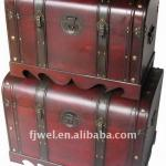 Factory Direct Sale Wooden Storage Treasure Trunks