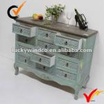 Luckywind shabby chic antique wooden cabinet