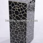 Hot sale mirrored beside table for living room decorative, Bevelled Plain Mirrored Pedestal Stand