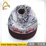 indoor and outdoor bean bag pear shaped bean bag chair printing bean bag