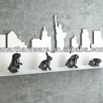 Amazing laser cut metal silhouette decorative wall stand