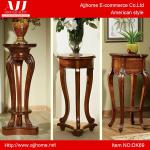 popular antique wooden indoor decorative flower vase stand DK69