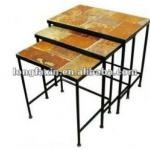 Metal To Wood Nesting Tables set of 3