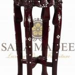 Rosewood vase stand with mother of pearl inlaid, Cherry shade.