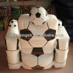 lastest sofa designs 2014 shanghai zhanxing new sofa hot sale inflatable football sofa-ZX-CM044
