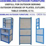 ASSEBLING OUTDOOR FURNITURE FOR outdoor serving-GREEK ISLAND