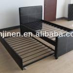 2014 modern bed new design bedroom furniture bed with leather package around metal bed-JNB001