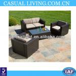 Outdoor Patio Furniture Brown All-weather PE Wicker 4pc Sofa Seating Set-RFW-0004