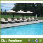 Outdoor sun lounger wicker hotel pool lounger-CF605