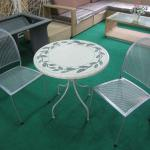 Outdoor Round Marble Top Dining Table Set 201235-201235
