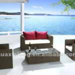 All-weater luxury terrace patio round resin rattan 2+1+1 Sofa set-FWY-006