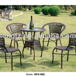 2013 Rattan Dining table Outdoor furniture Antique cast iron garden furniture-HFC-062