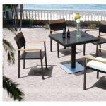 Joliet 2014 Garden used tables and chairs for restaurant PE Wicker Pool Furniture-AR-T410,AR-C296C