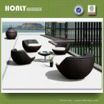 Outdoor patio poly rattan furniture designer-HLWCS214B