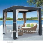 Hot Sell Cheap Stable PE Rattan Iron Roof Gazebo All Weather-A001