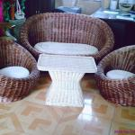 nautical willow sofa basket chair-