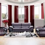 Black Modern sofa set ,Leather Sofa Set /Q1-1-Q1-1