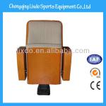 Popular Wooden Covered Hall Seats with Fabric Covered Soft Cushion and Backrest-LX-1001