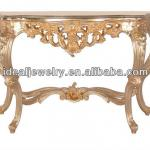 2013 carved hotel console table with mirror