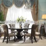 AK-5039 luxurious solid wood antique dinning room furniture