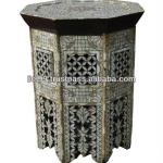 Antique Syrian Mother of Pearl Wood Coffee Table